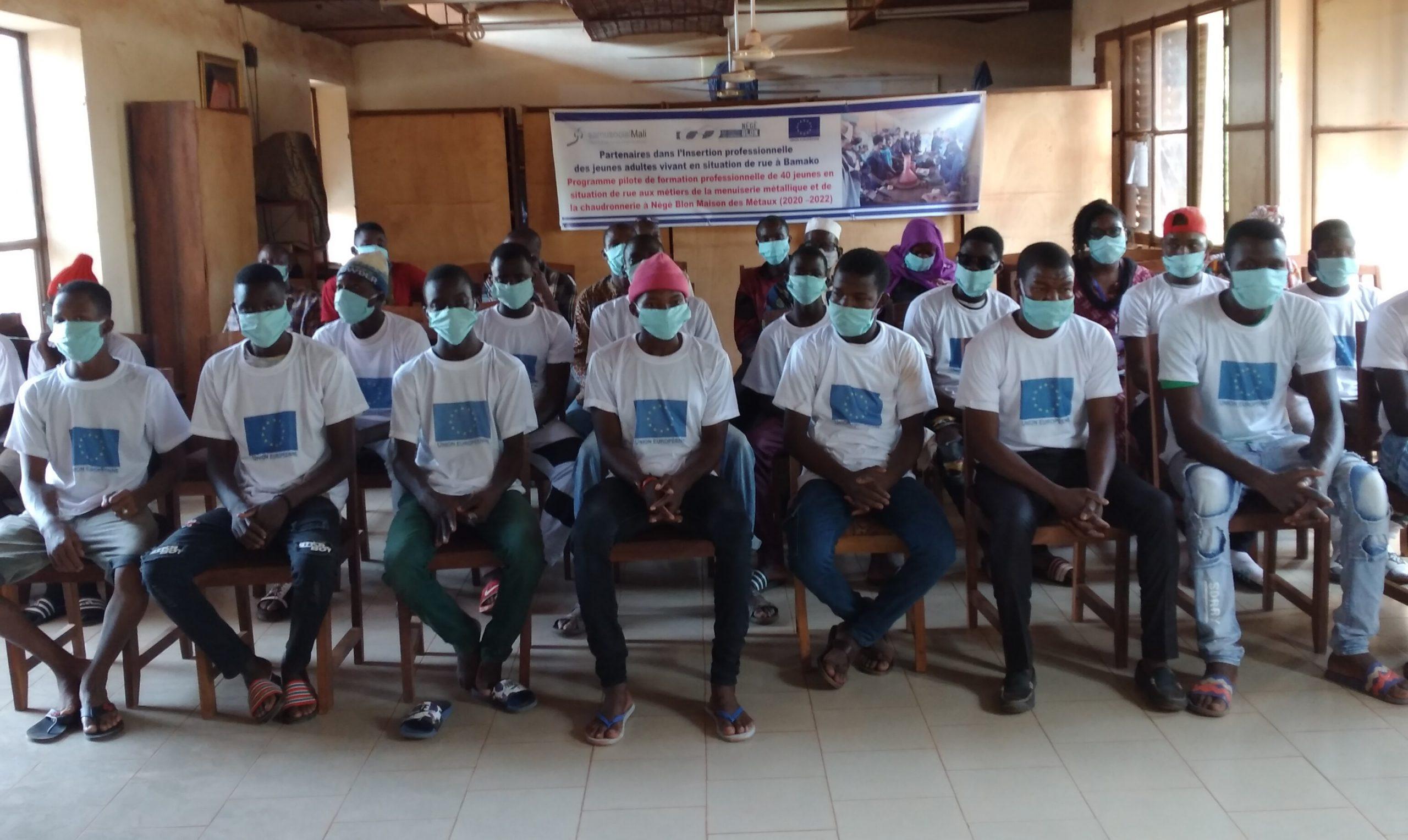 Le Samusocial International accompagne le Samusocial Mali dans la mise en œuvre du projet de formation professionnelle de jeunes vivant en rue
