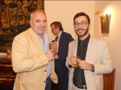 De g. à d. : Bruno Zgorecki, directeur général de In Vino Frances Veritas; Matthias Cougnaud.