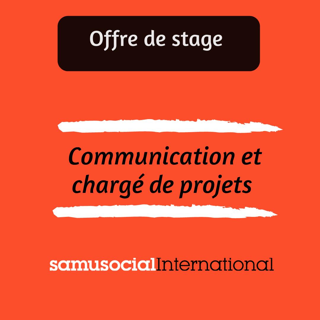 Offre de stage communication et gestion de projets