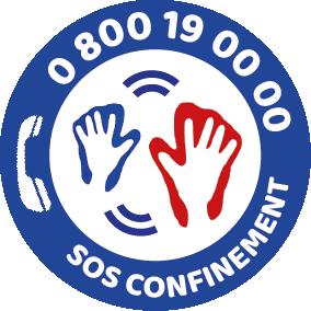 sos confinement logo herve fischer